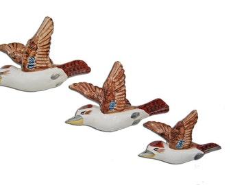 Set 3 Flying Wall Kookaburras