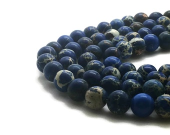 6mm Regalite Beads Dark Blue Round 6mm Regalite 6mm Blue Jasper Aqua Terra Jasper Sea Sediment Jasper Impression Jasper Regalite Blue