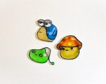 MapleStory Monsters Shrink Plastic Pin Set