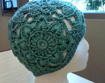 Crochet Open Work Beanie