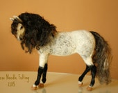 Needle Felted horse, Andalusian horse, needle felting stallion, equestrian gifts, made to order equestrian sculpture