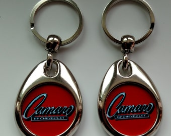 CAMARO KEYCHAIN 2 PACK double sided red
