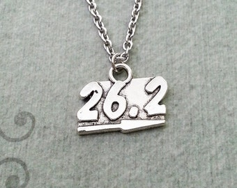 Running Necklace SMALL Runner Jewelry Half Marathon Jewelry I Can Charm 26.2 Mile Necklace 26 Mile Marker Necklace Running Gift Runner Gift