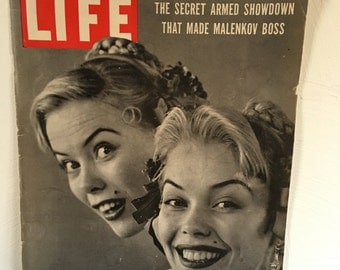 Life Magazine 50s Ads Ephemera Package