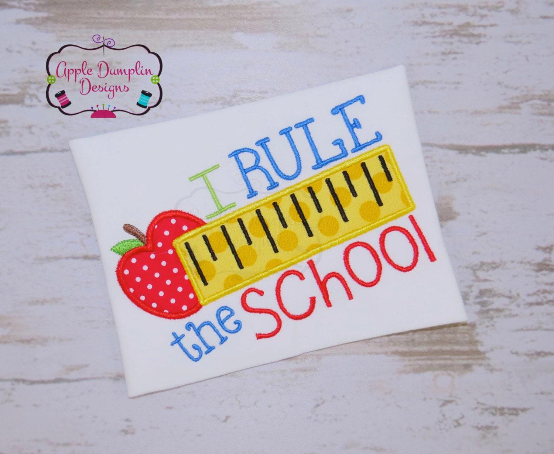 i rule the school applique design machine embroidery