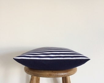 CLEARANCE SALE ( Navy and white striped cushion )