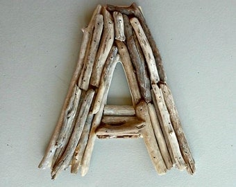 Large Letter A, Driftwood Letter, Beach Wedding Gift, Rustic Wedding Initial, 12 inch letter, Rustic Nursery Decor, Reclaimed Alphabet A