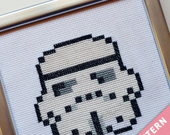 Star Wars Mini Cross Stitch Pattern - Stormtrooper