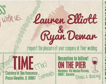 Sample Boarding Pass Destination Wedding Invitation