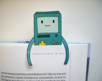 BMO adventure time bookmark - instant download, printable bookmark, cartoon handmade gift