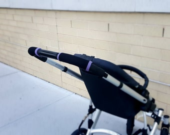 Black & purple Stroller handle bar cover, Bob handle cover , bumper bar repair, Britax handlebar, Babyjogger handle cover, stroller grips