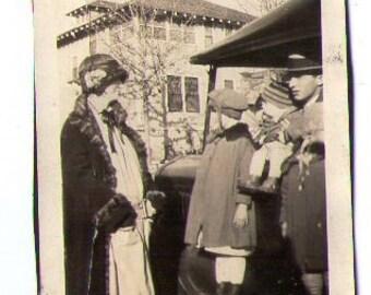 Vintage photo, twenties photo, old photo, paper ephemera, snapshot, black and white photo, found photo _ 202