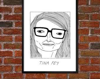 Badly Drawn Tina Fey - Poster
