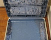 Large Blue Suitcase Clean Hard Plastic Forecast