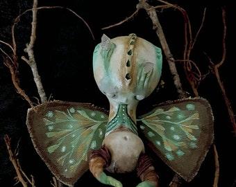Ooak gothic art doll, ooak art doll, gothic doll, goth art doll, ooak doll art, art doll ooak, goth doll, unique art doll, Chrysalis
