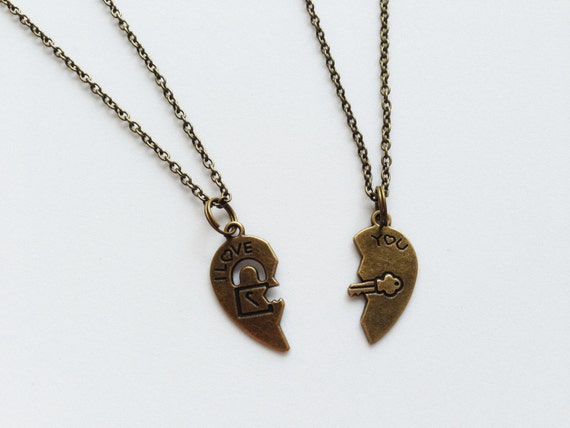 heart necklace for couples - photo #38