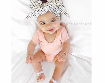 DOTTIE Gorgeous Wrap- headwrap; fabric head wrap; polka dot head wrap; newborn headband; baby headband; toddler headband; baby headwrap