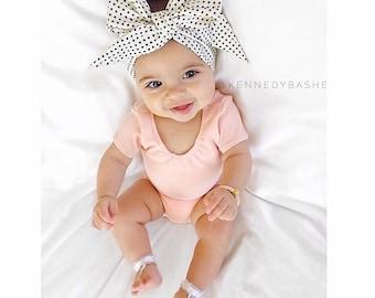 DOTTIE Gorgeous Wrap- headwrap; fabric head wrap; polka dot head wrap; newborn headband; baby headband; toddler headband; baby headwrap