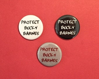 Protect Bucky Barnes Pinback Button