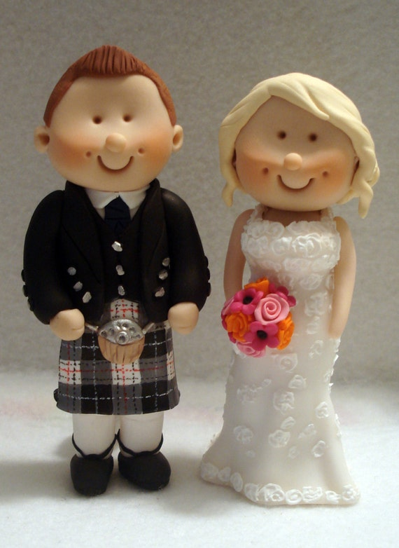 Scottish Bride And Groom Wedding Cake Topper by ...
