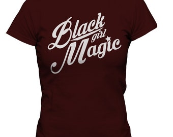 Black Girl Magic Maroon Tee