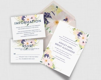 the symphonia collection | watercolor floral wedding suite