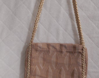 Small wood look purse with double straps