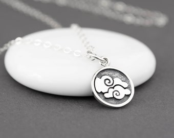 Air Necklace, Air Element, Occult Necklace, Element Necklace, Alchemy Necklace, Alchemy Symbols, Alchemy Jewelry, Four Elements, 4 Elements