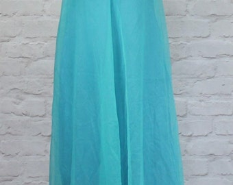 Vintage 70s Victorian Style Dress Evening Wedding Classy Elegant Cape UK 8/10...US 4/6