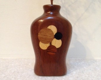 Small Vase or Twig Vase -  Beautiful Custom Made Inlaid Wood