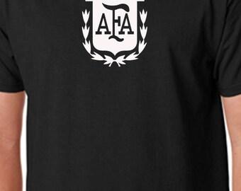 Black Argentina T Shirt Custom Soccer Grey