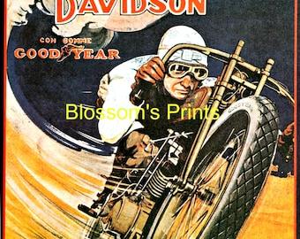 Vintage Harley Davidson and Good Year advertising