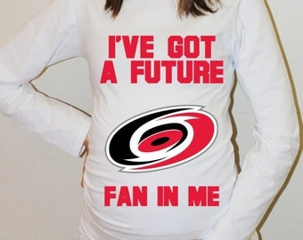 Carolina Hurricanes Baby Carolina Hurricanes Shirt Long Sleeve Maternity Shirt Funny Pregnancy Shirts Pregnancy Reveal
