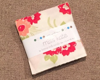 """MISS KATE FLANNEL Charm Pack by Bonnie and Camille for Moda Fabrics ~ 42 Cotton 5""""x5"""" PreCut Quilting Squares"""