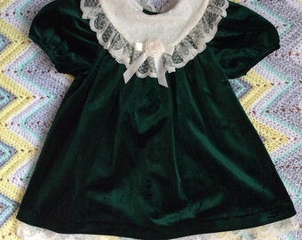 SALE*** Green Velvet Dress 3T