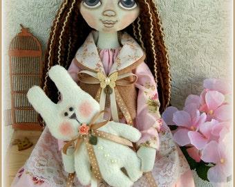 fabric soft doll Gala rag doll cloth doll мягкая тряпичная кукла Mother's Day текстильная кукла handmade doll ooak stuffed doll