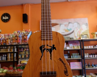 Great sound custom Thai woods handmade ukulele. Concert Size.