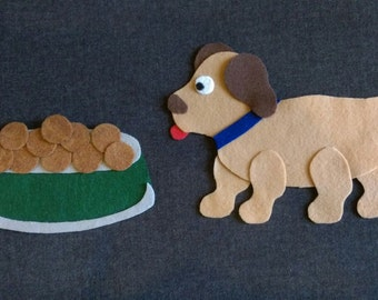 Dog-Counting Felt Set // Math // Preschool // Counting // Pretend Play