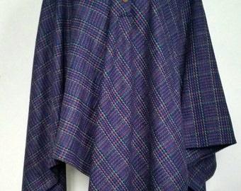Vintage Checked Cape