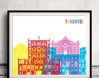 Tarento pop art skyline 8x10 in. to 12x16 in. Fine Art Print Glicee Poster Gift Illustration Pop Art Colorful Landmarks - SKU 1084