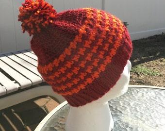 Houndstooth Crochet Hat