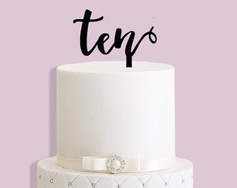 10th Birthday Cake Topper