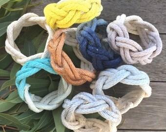 Dip dye ombre cotton macrame bangle