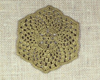 Sparkly Crochet Coasters - set of 5