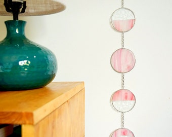 SALE 15% Stained Glass Moon Phase (Original 65.00)
