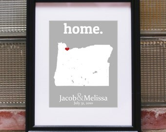 Portland Oregon Map, Portland Oregon Art, Portland Oregon Print, Custom Portland Map, Portland Art, Portland Print - Any State or Country