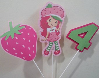 On sale! Strawberry shortcake centerpieces. Get it for free--- checkout my other strawberry shortcake listing
