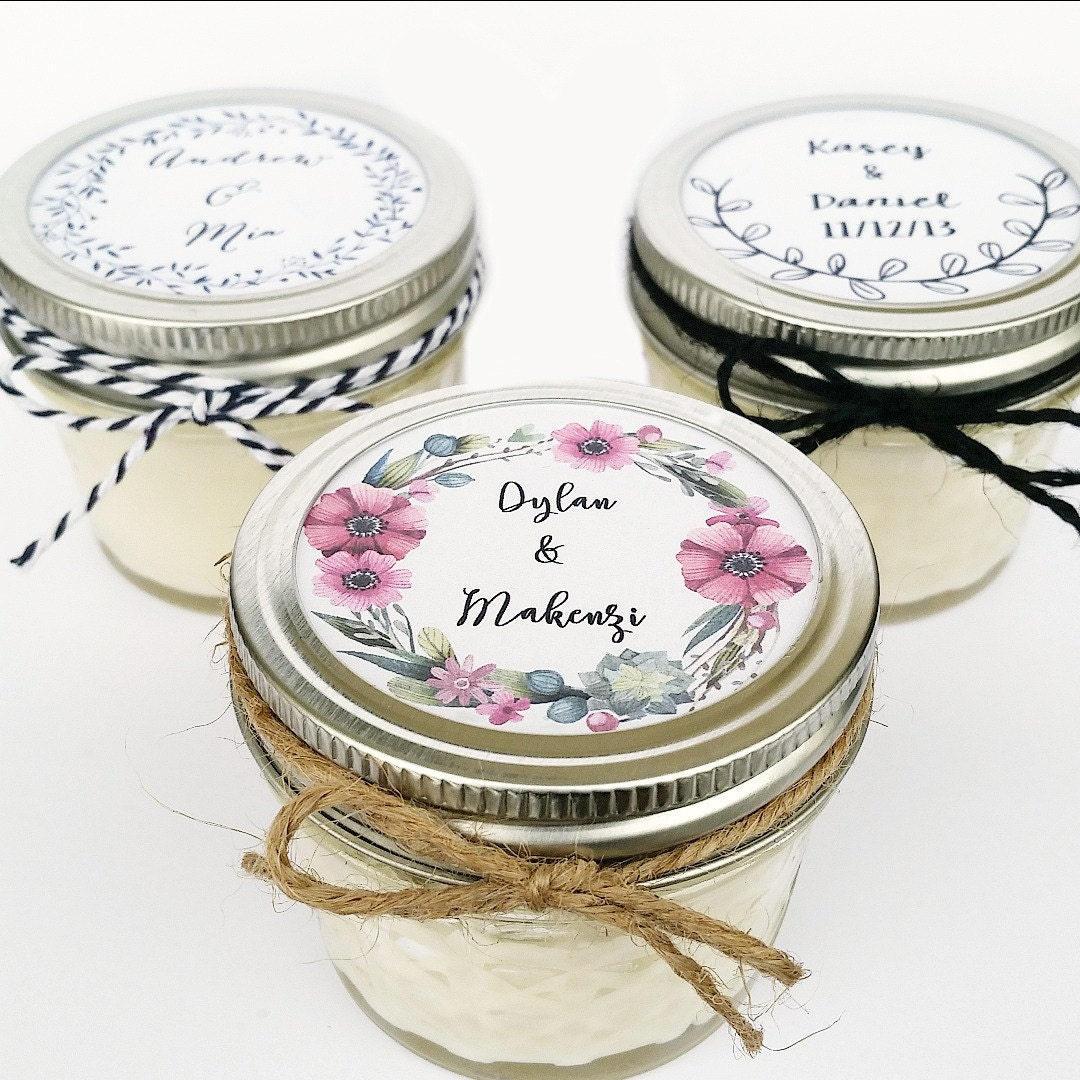 Wedding Favor Candles Mason Jar Favors Rustic Favors