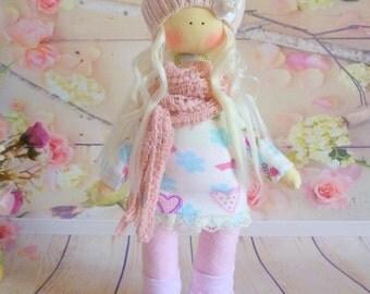 Doll tilde.Fabric Doll.Cute doll.Textile doll. Soft toy. Cloth doll. Gift Idea.Rag Doll .Home Decoration.Handmade Doll,Doll.Tilda doll