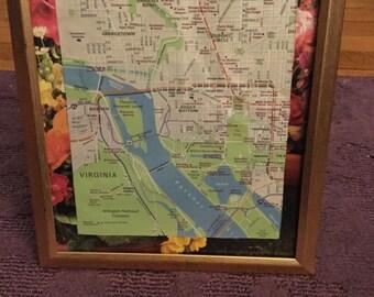 Map of DC/VA in 8in x 10in Frame